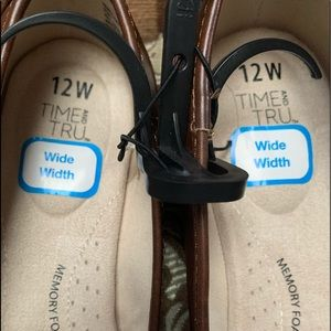 Time and Tru Shoes - TIME & TRU - sz 12W - brown slip on flat Shoe $17